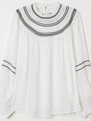 Блуза молочного цвета   5375782