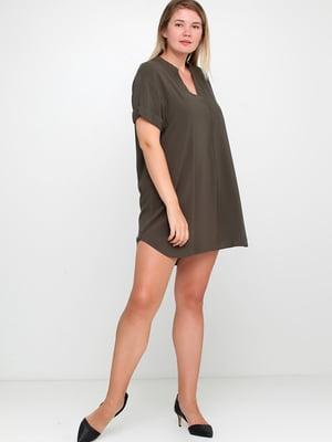 Сукня кольору хакі | 5375813