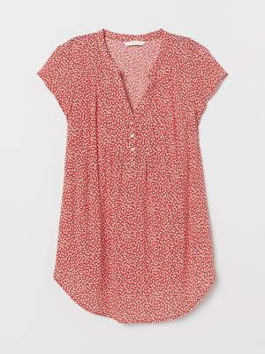 Блуза розовая в цветочный принт | 5375945