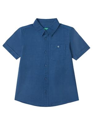 Рубашка синяя | 5371379