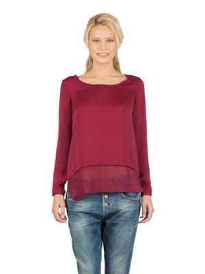 Блуза бордовая | 5376241