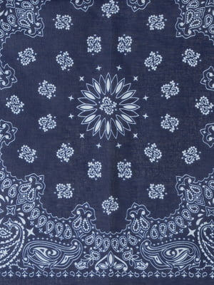 Платок синий в принт | 5376371