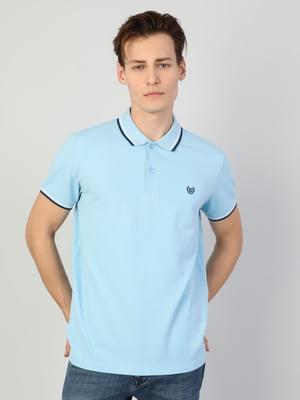 Футболка-поло блакитна | 5376394