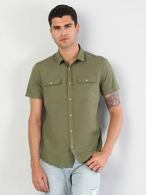 Сорочка кольору хакі | 5376551
