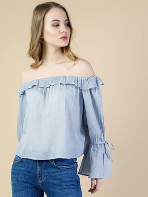 Блуза синяя | 5376596