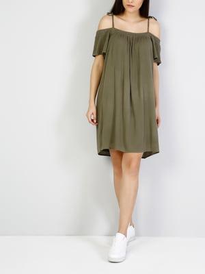 Платье цвета хаки | 5376621