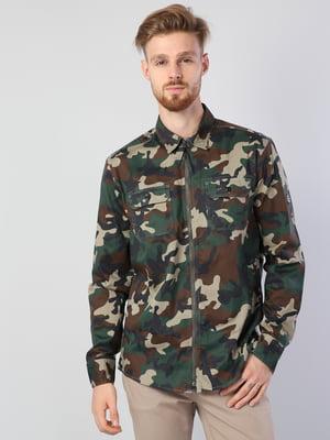 Рубашка в камуфляжный принт | 5376841
