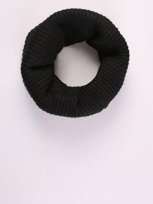 Шарф-снуд черный | 5376910