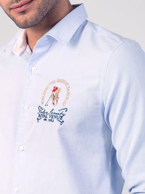 Рубашка голубая с рисунком   5377013