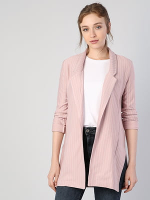 Жакет розовый в полоску | 5377057