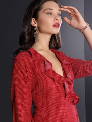 Блуза красная в крапинку | 5377098