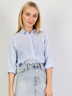 Рубашка голубая | 5377226