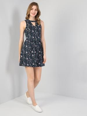 Платье синее в принт | 5377403