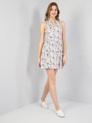 Платье белое в принт | 5377404