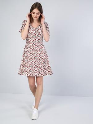 Платье белое в принт | 5377407