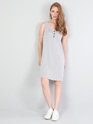 Платье белое в полоску | 5377430