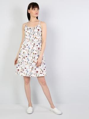 Платье белое в принт | 5377440