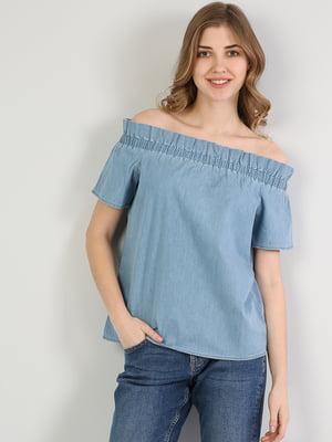 Блуза синяя | 5377449
