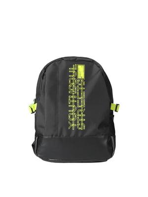 Рюкзак чорний в принт   5377712