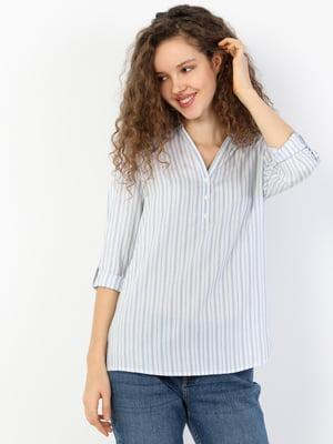 Рубашка синяя в полоску | 5377774