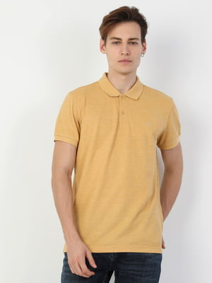 Футболка-поло желтая | 5377909