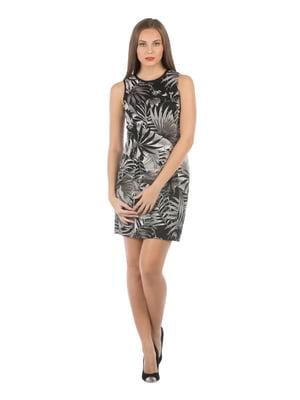Платье черное в принт | 5377912
