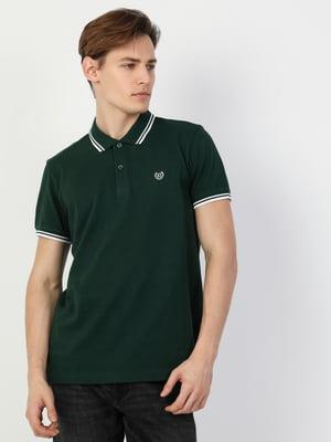 Футболка-поло зелена | 5376396