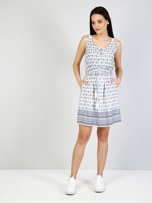 Сукня синя в принт | 5376640