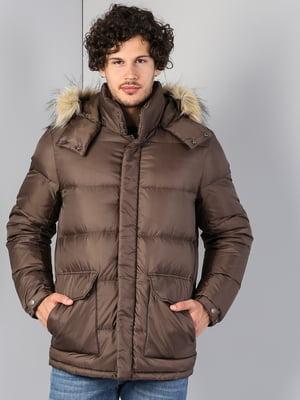 Куртка темно-бежевого цвета   5376813