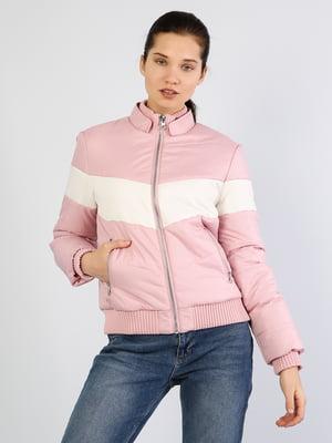 Бомбер рожево-білий | 5377035