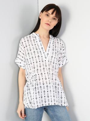 Блуза белая в принт | 5377298