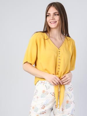 Блуза горчичного цвета | 5377319