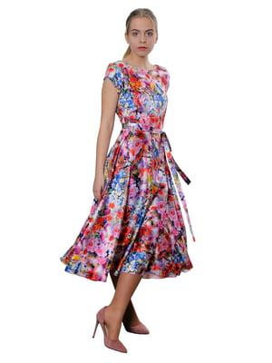 Платье в цветочный принт | 5379773