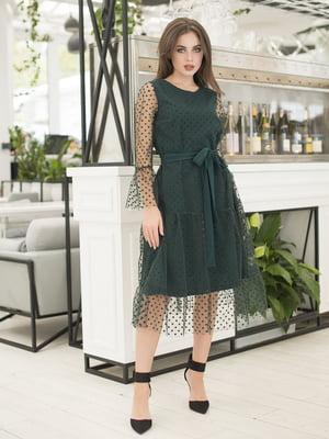 Сукня темно-зелена | 5379863