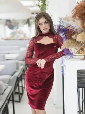 Сукня бордова | 5379878