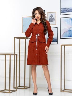 Платье кирпичного цвета   5379892