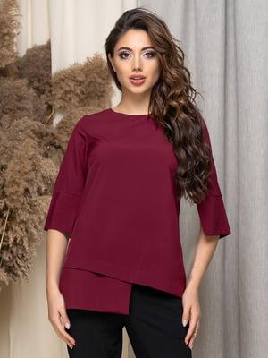 Блуза бордовая | 5379906