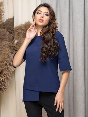 Блуза темно-синя | 5379908