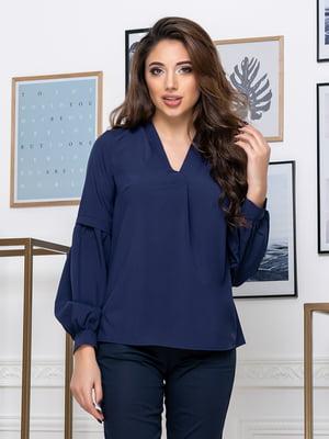 Блуза темно-синяя | 5379918