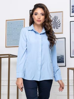 Рубашка голубая | 5379920