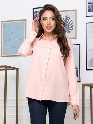 Рубашка цвета пудры | 5379922