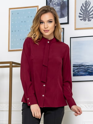 Рубашка бордовая | 5379925