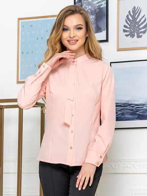Рубашка цвета пудры | 5379927