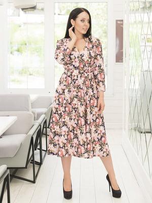 Платье в цветочный принт | 5380012