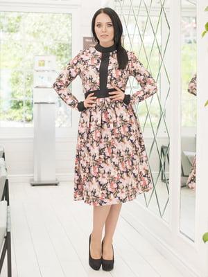 Платье в цветочный принт | 5380019