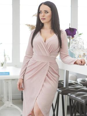 Сукня кольору пудри | 5380023