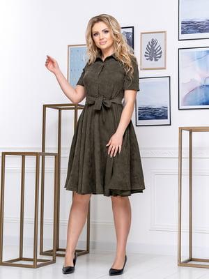 Сукня кольору хакі | 5380028