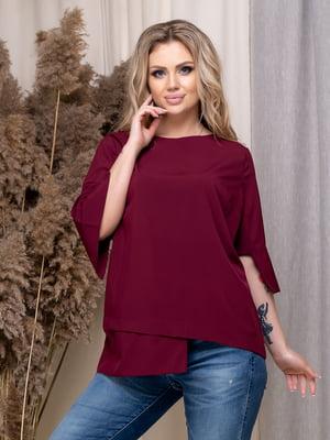 Блуза бордова | 5380049