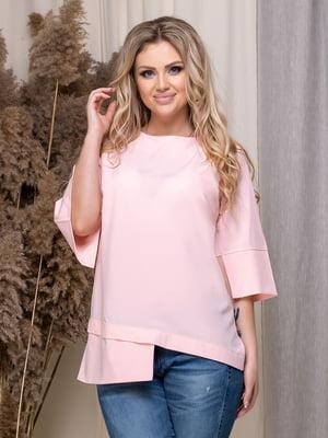 Блуза кольору пудри | 5380050