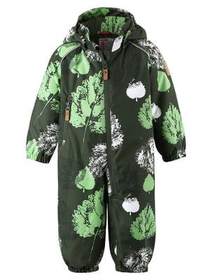 Комбинезон зеленый с принтом | 5373591
